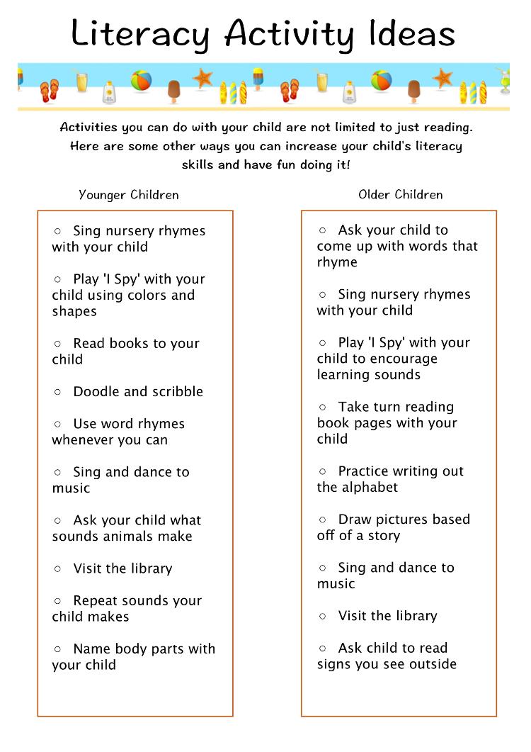 summer literacy program « teen parent connection
